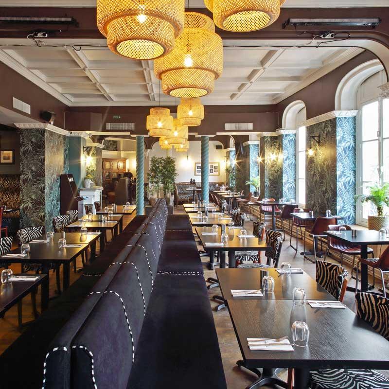 Salle principale restaurant Villa Maasaï Paris