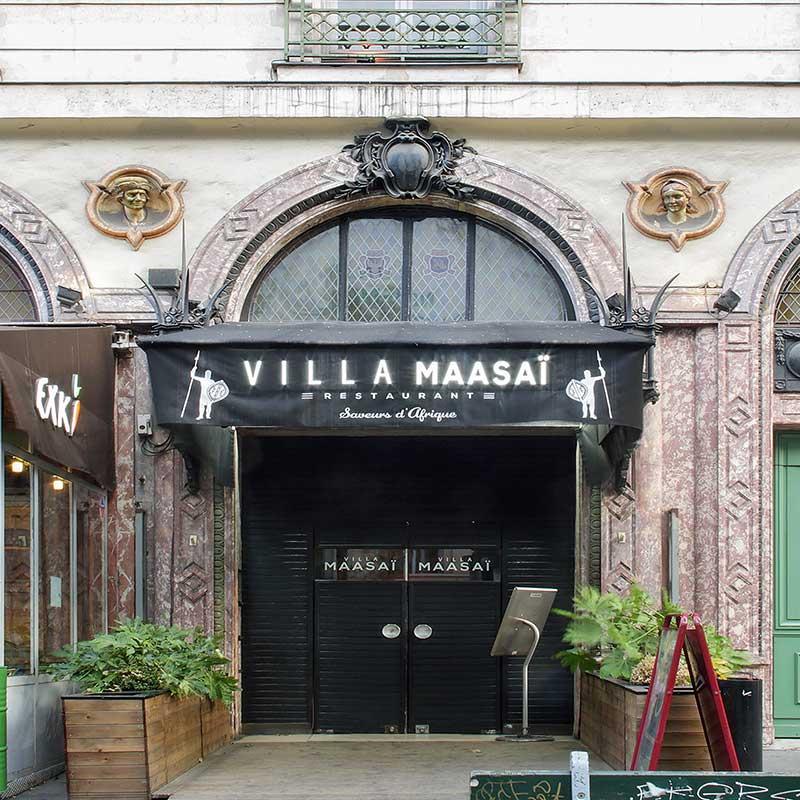 Devanture restaurant Villa Maasaï